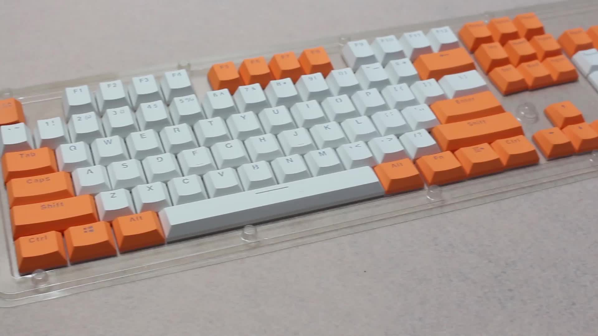 The high quality ABS BPT OEM closed text transparent keycap