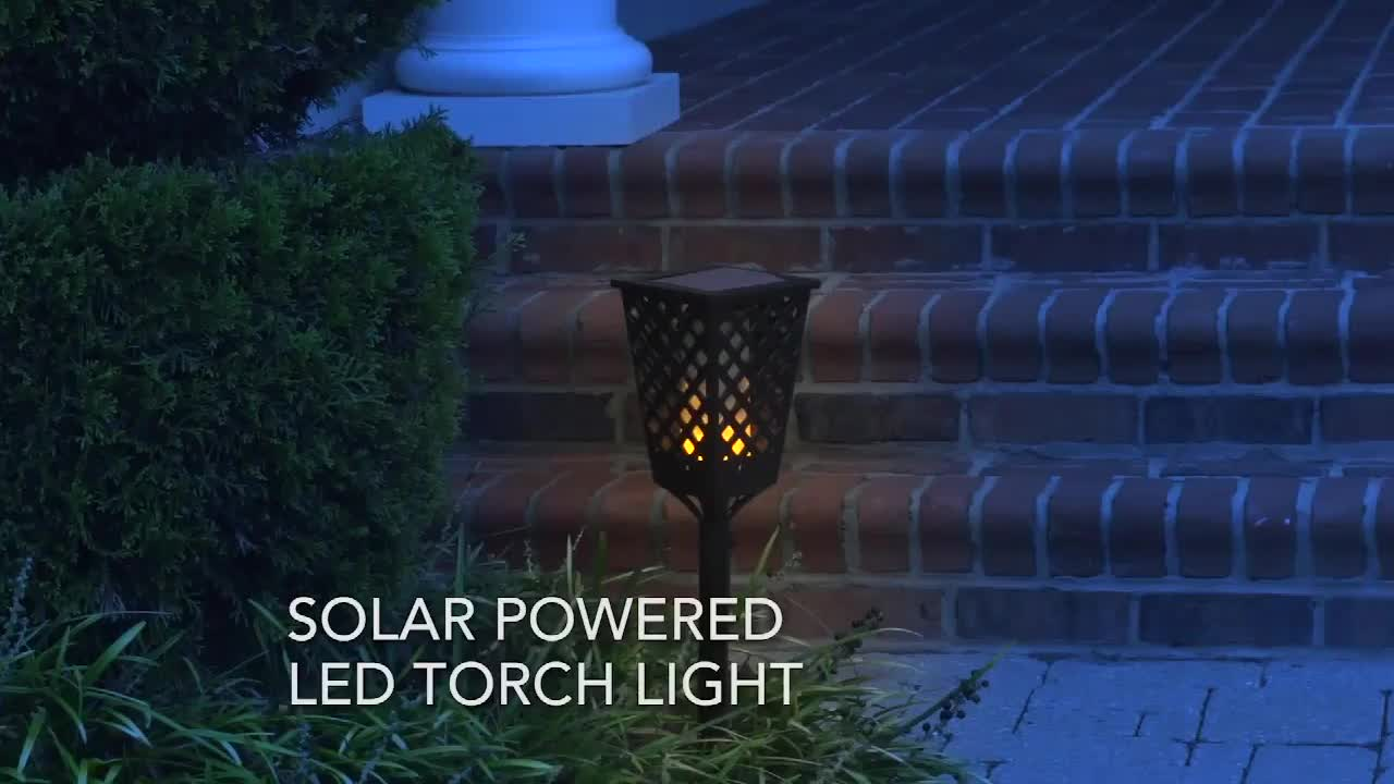 Goldmore Decorative Solar Pathway Lights for Patio Outside Landscape Driveway Path Yard