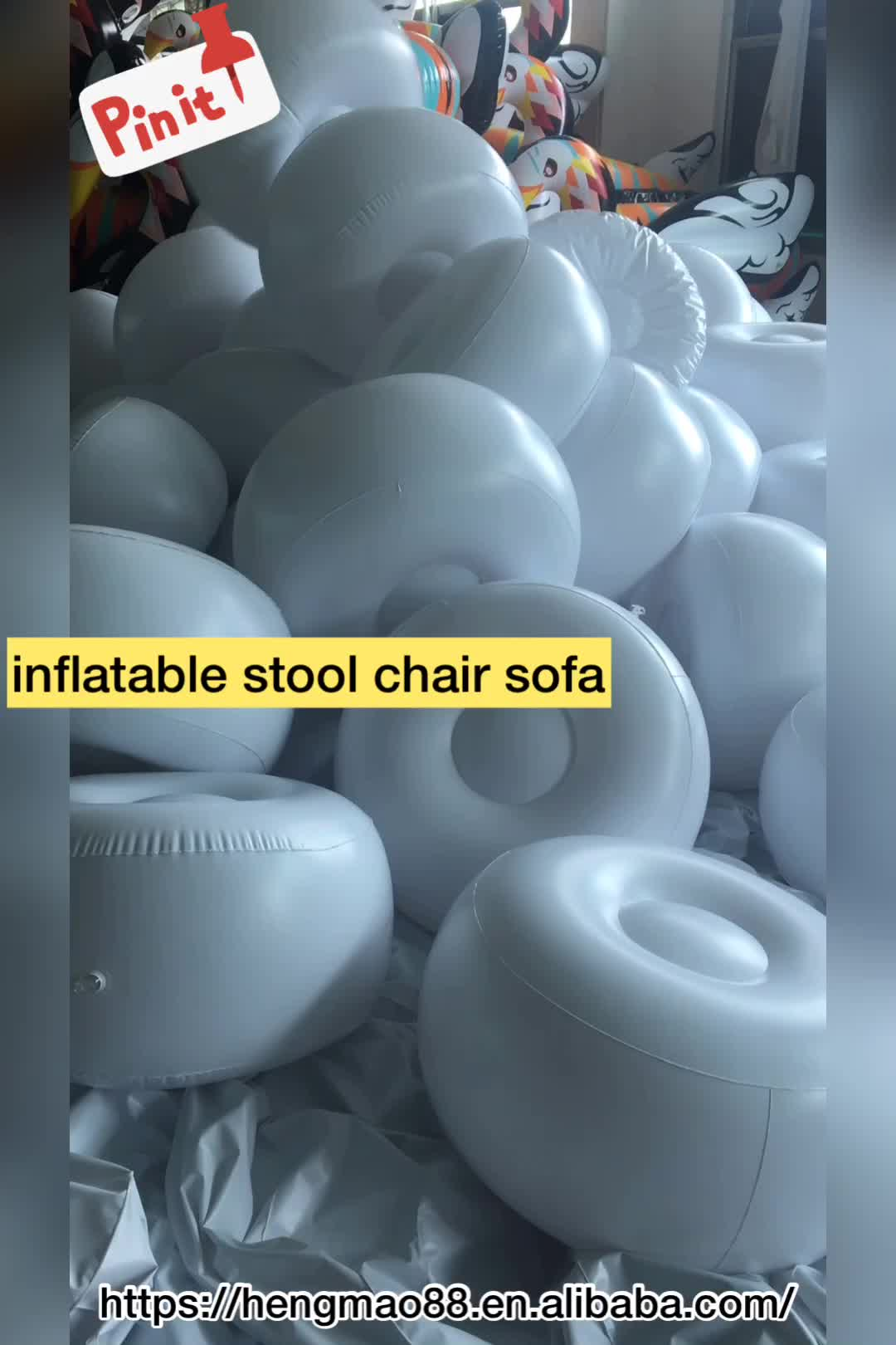 Glitter inside inflatable chair ottoman for living room