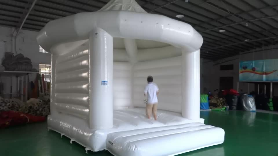 Hot Sale Inflatable White Bounce House Commercial ...