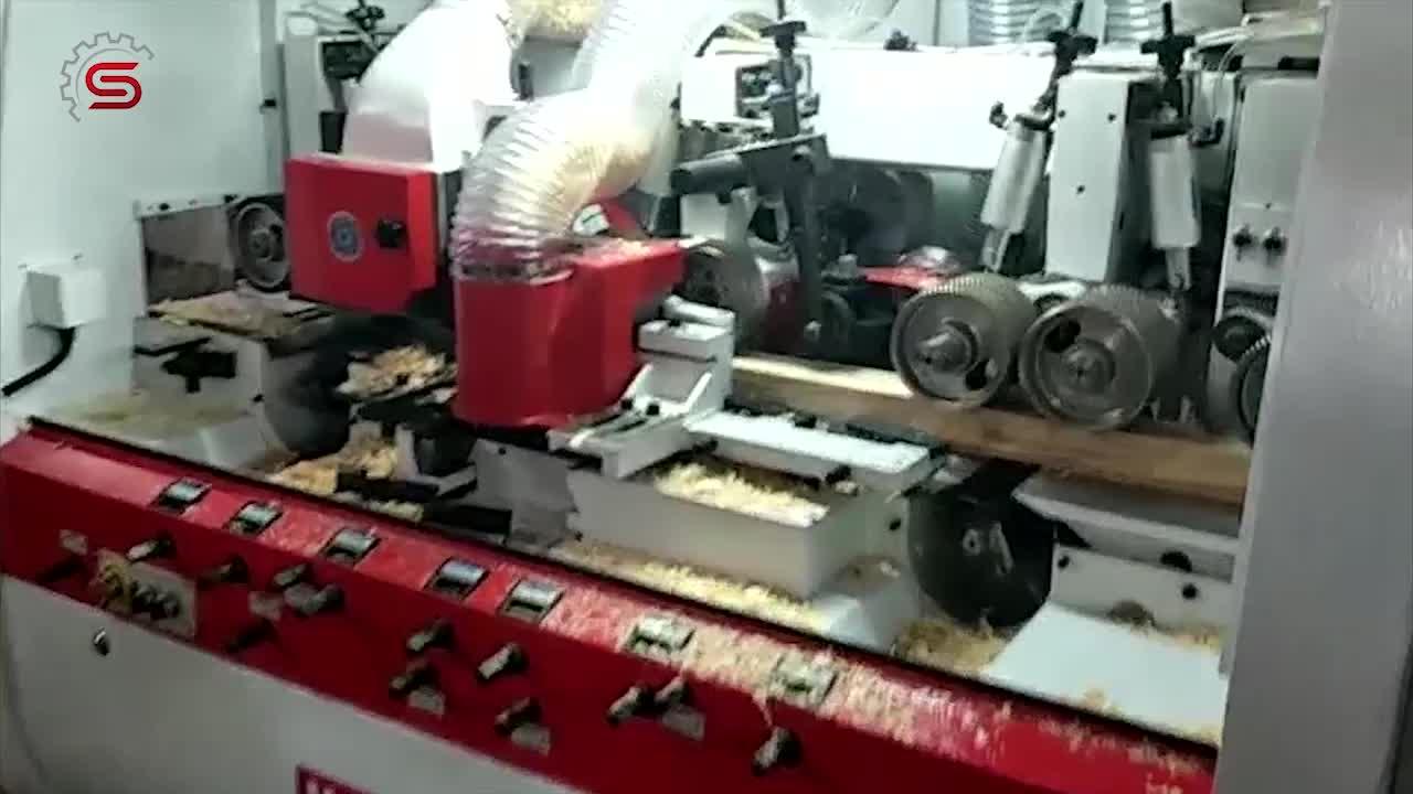Endüstriyel Dört taraflı ahşap kalınlığı planya MBQ515A çin'de yapılan