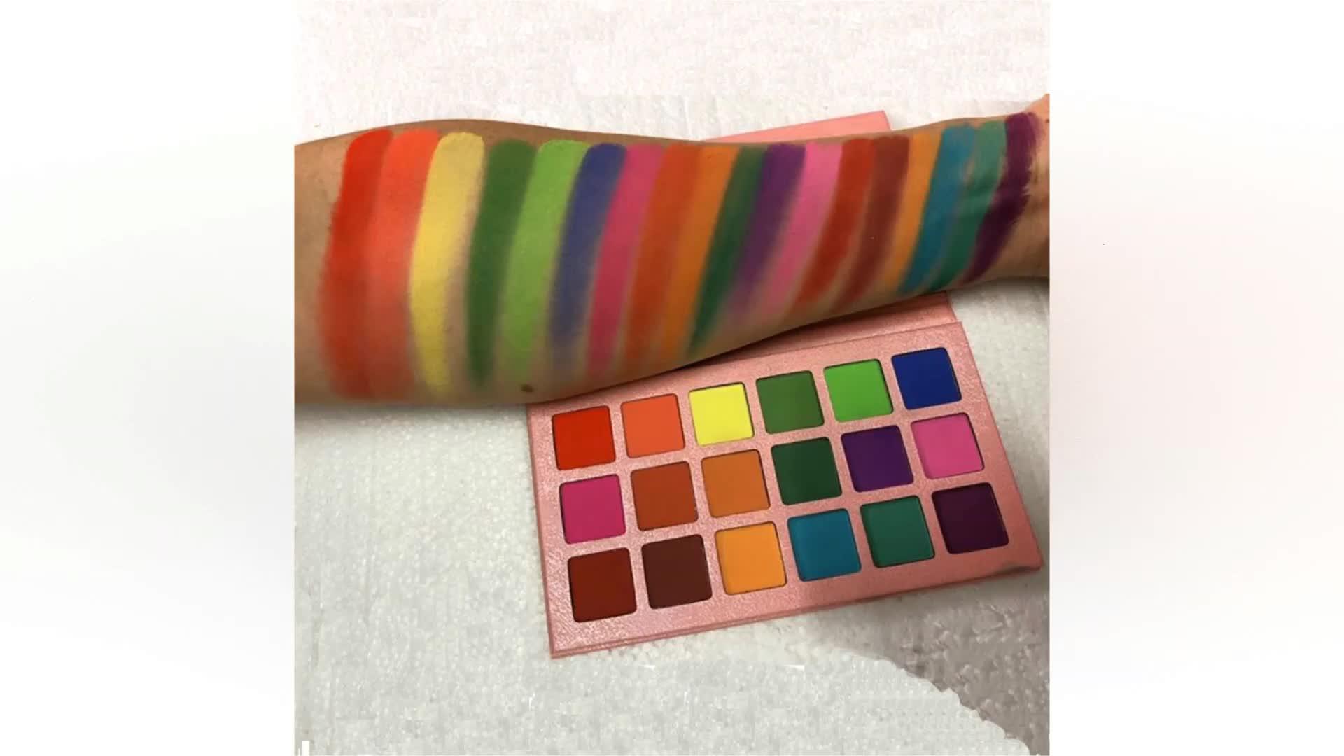 संयुक्त राज्य अमेरिका के लिए 18 रंग गर्म उत्पादों 2019 आँख छाया तटस्थ निजी लेबल कस्टम लोगो आंखों के छायाएं पैलेट