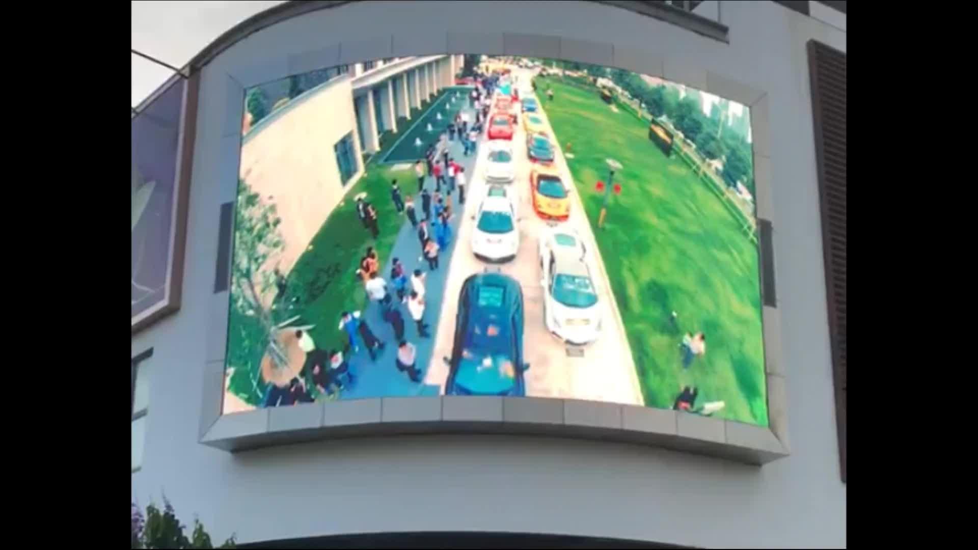 大きな屋外p10防水広告フルカラーledディスプレイスクリーン