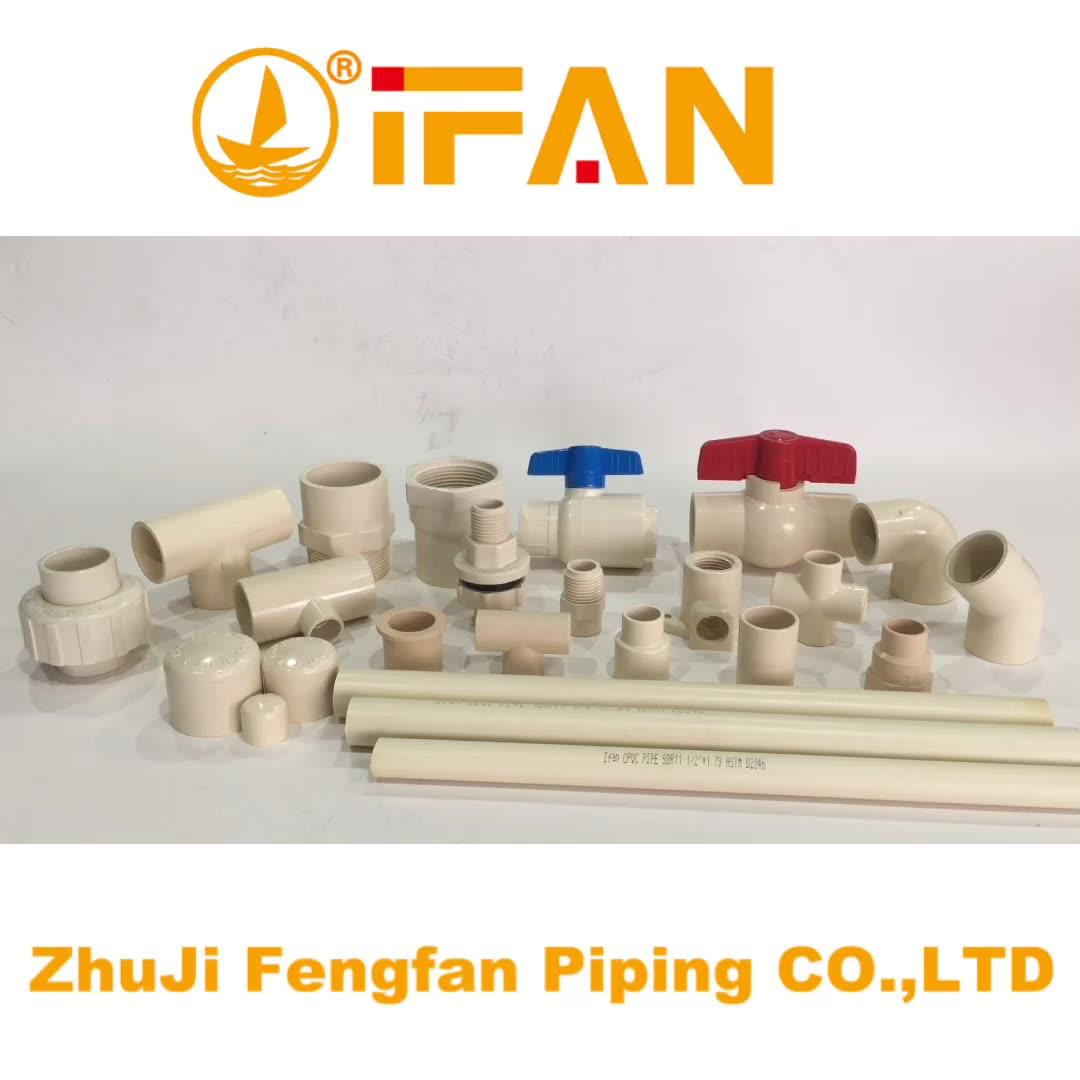 Unión conexión 1/2 pulgadas latón CPVC ASTM2846 tubo de agua de tuberías de plástico nombre de la Unión válvula de bola de CPVC lista de precios unión 90 codo