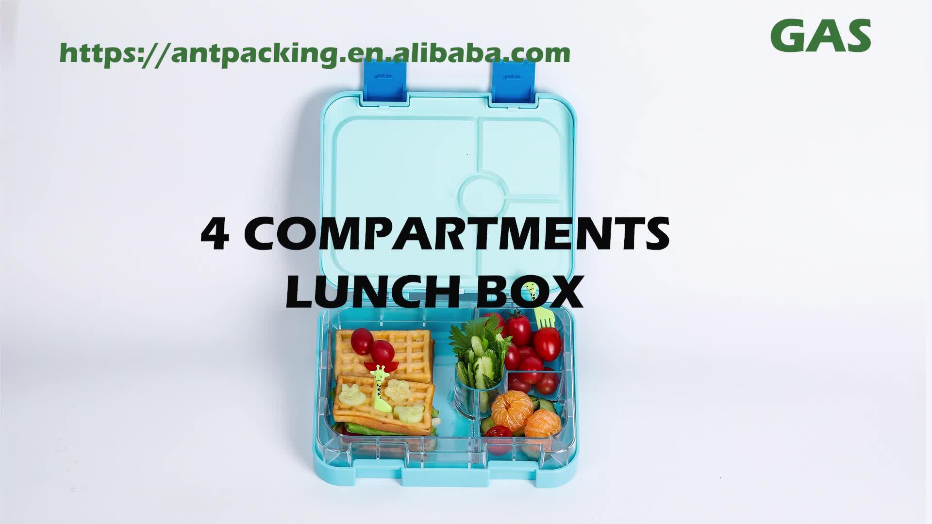 Venda quente inovadora produto 4 departamentos armazém caixas de armazenamento de plástico e caixa