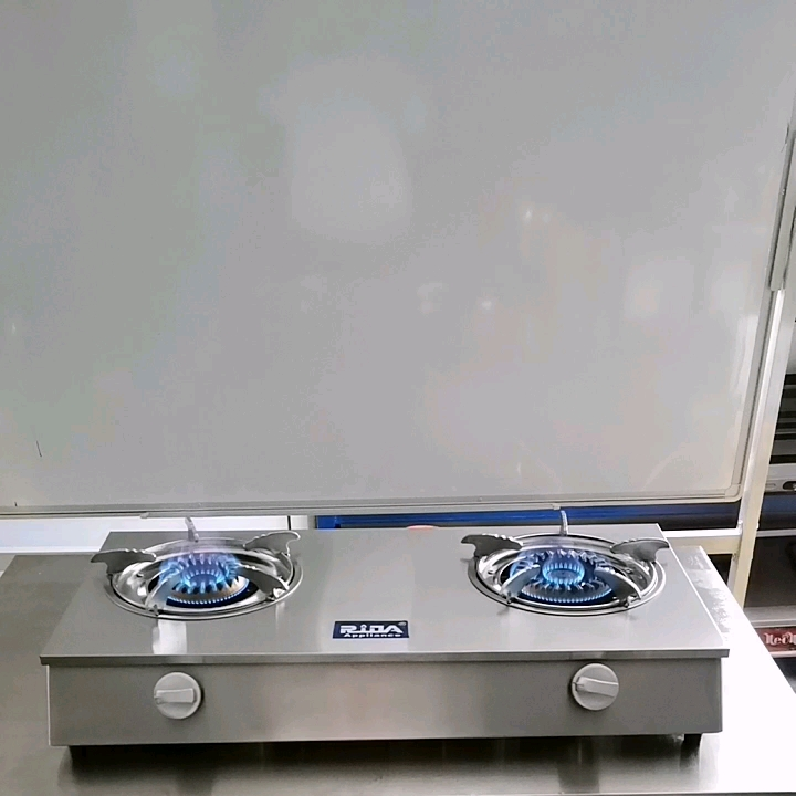 Commercial double chinese cast iron casting gas tabletop cooker automatic ignition