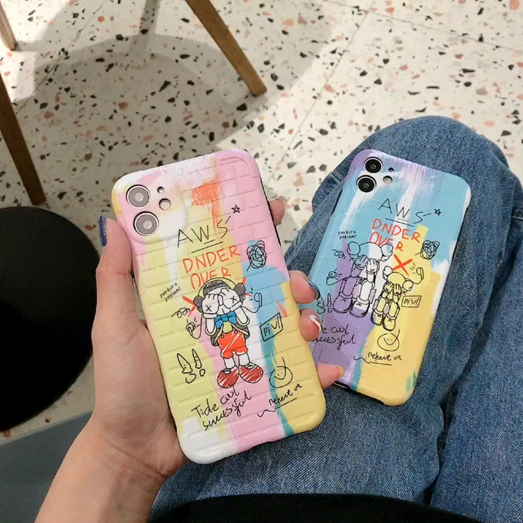 Wholesale Cartoon Sesame Graffiti Shockproof Silicone Case For iPhone 11 Pro X XR XS Max 8 7 6 6S Plus SE Soft TPU Back Cover