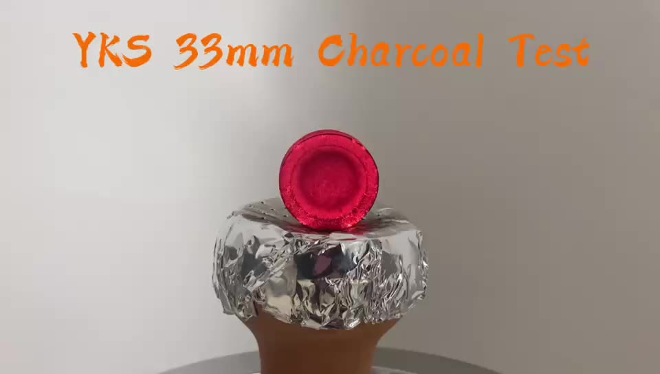YKS 33mm hand-made packing round coal tablets for Shisha hookah