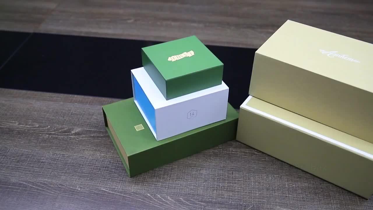 Kundenspezifische magnetische kleine faltende Papierkastenluxuxgeschenkbox mit starrem Mailer