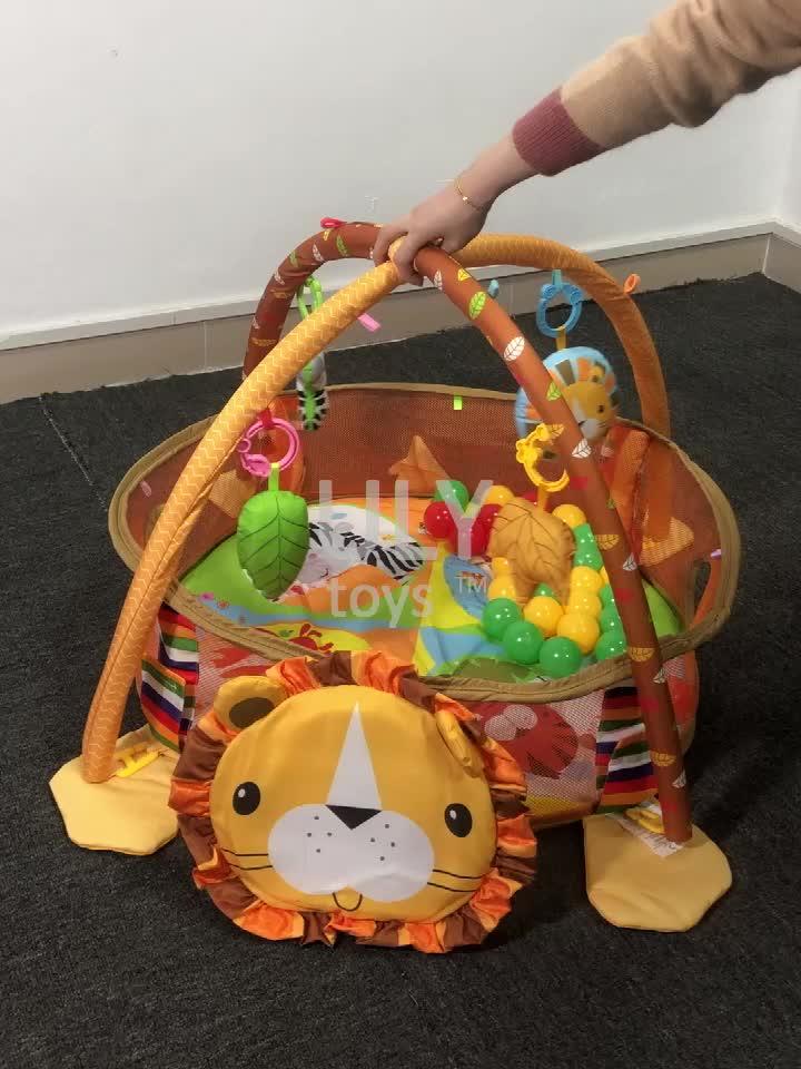 Lion Lion Shape GYM เล่นเด็กน่ารักน่ารักเด็ก Crawling พรมพับได้