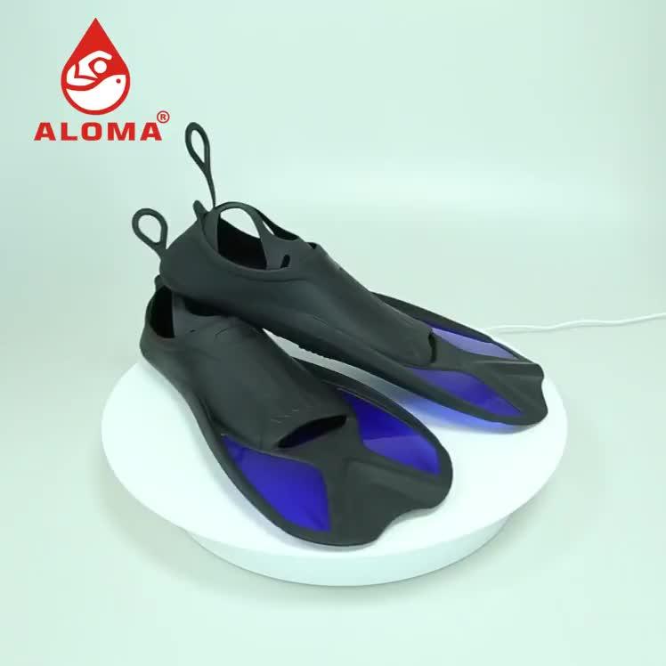 Lightweight Custom logo High Quality TPR Rubber Snorkeling Diving Fins