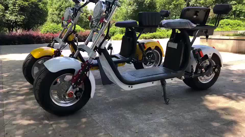 Europa EWG COC zertifikat Stadt coco Elektrische Roller 800w 1000w seev citycoco 2000w elektrische roller mit fett fahrrad reifen roller