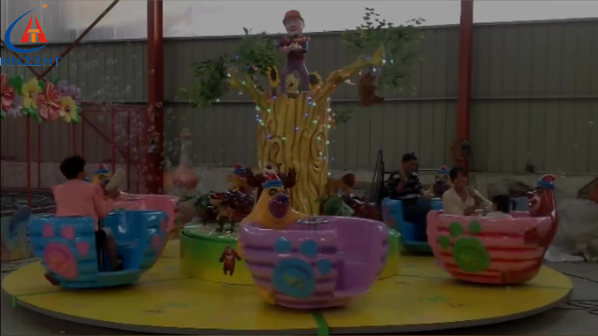 Usado passeio xícara de café para a venda! Urso feliz copo família amusement rides carnival games venda