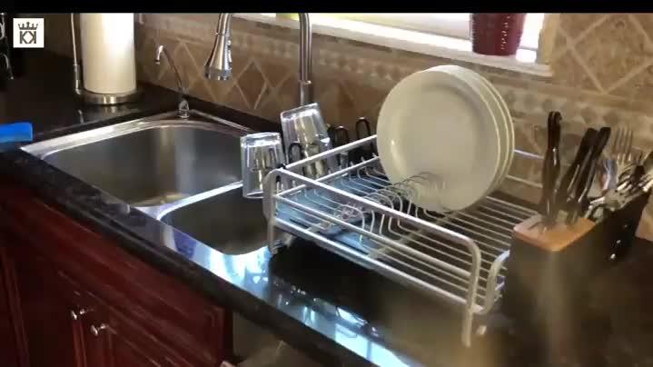 Wireking Teller Trocknen Platte Rack küche schrank organizer gericht ablassen Aluminium dish rack