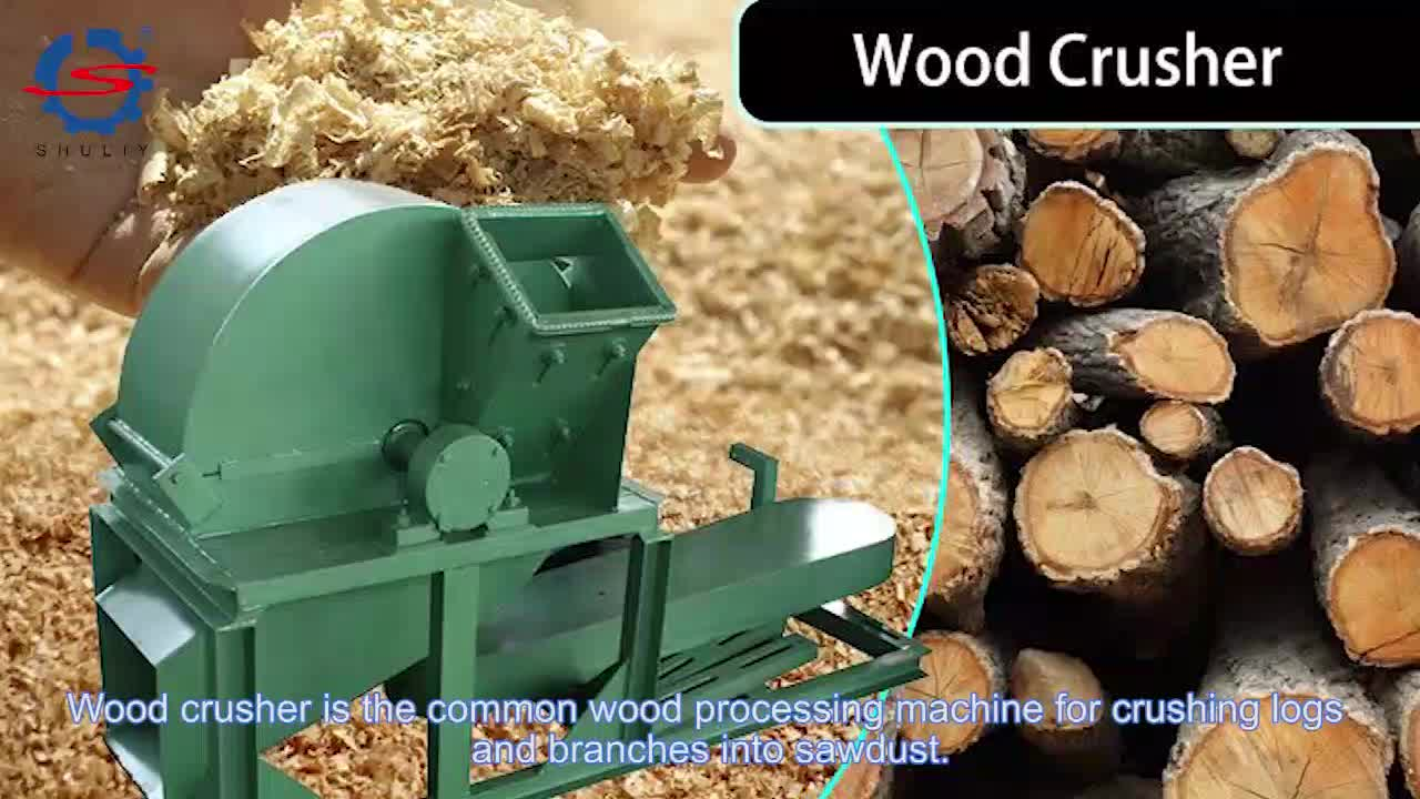 Promotional price wood chip crusher Small wood crusher mobile Wood crusher machine