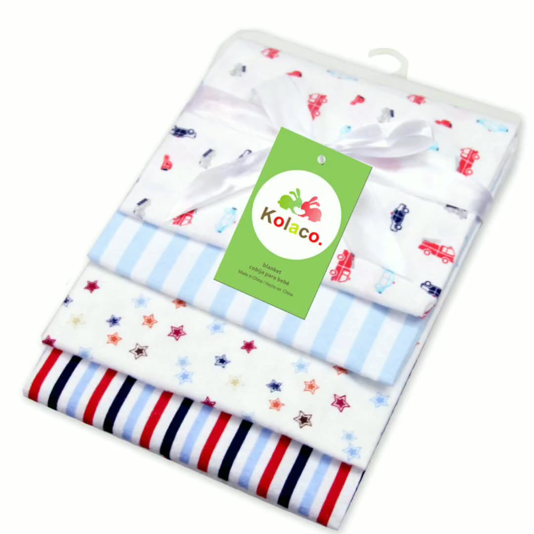 Soft Fabric Printed Baby 100% Cotton Flannel Swaddle 3d print spring autumn custom flannel blanket