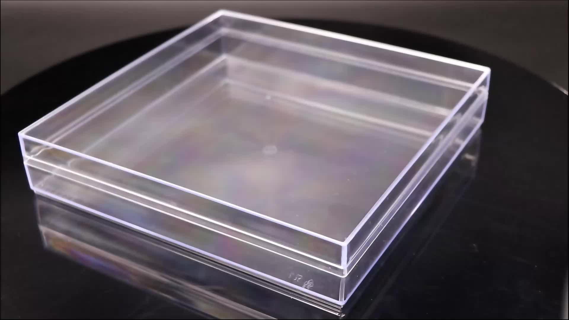 OEM Printingchocolate 선물 상자 스퀘어 식품 용기 플라스틱 럭셔리 초콜릿 초콜릿 투명 상자