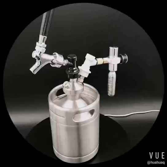 Draft beer keg dispenser with valves