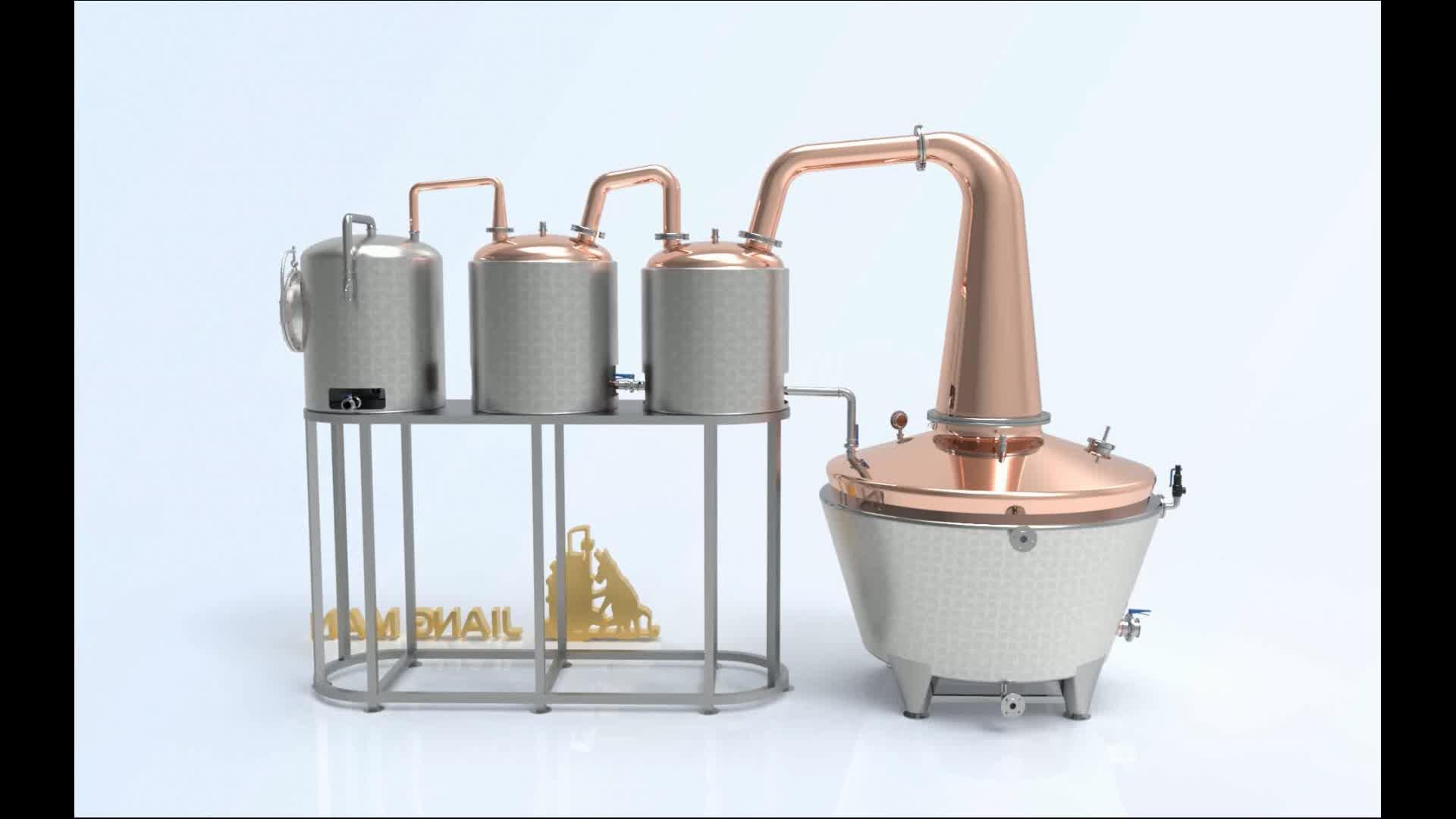 [JiangMan]-900L तांबा आसवनी उपकरण-तांबे के बर्तन शराब खींचनेवाला-कैरेबियन रम आसवन अभी भी-डबल Thumper रम आसवनी