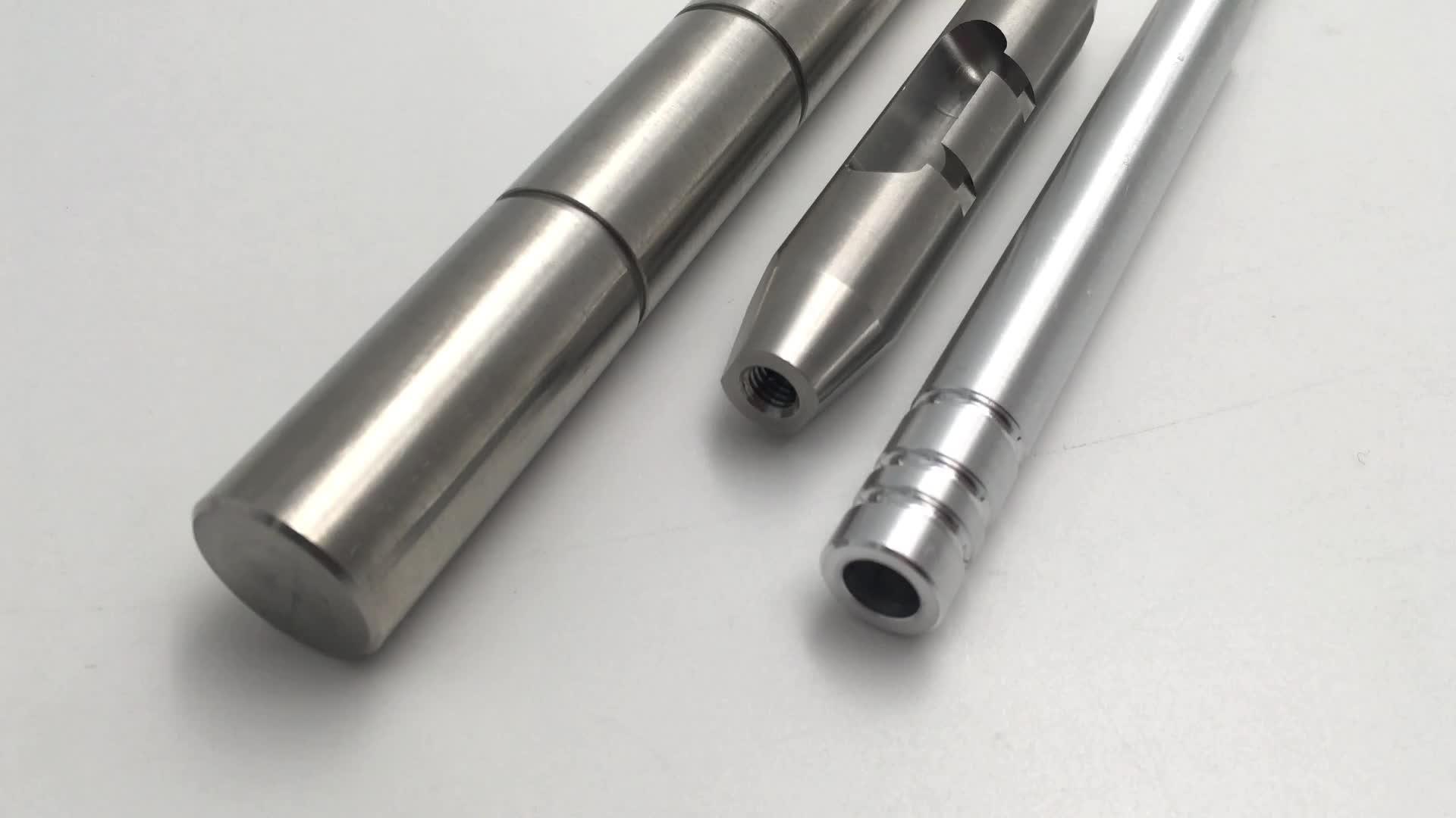 Custom made precision cnc machining turning small metal knurling brass pins