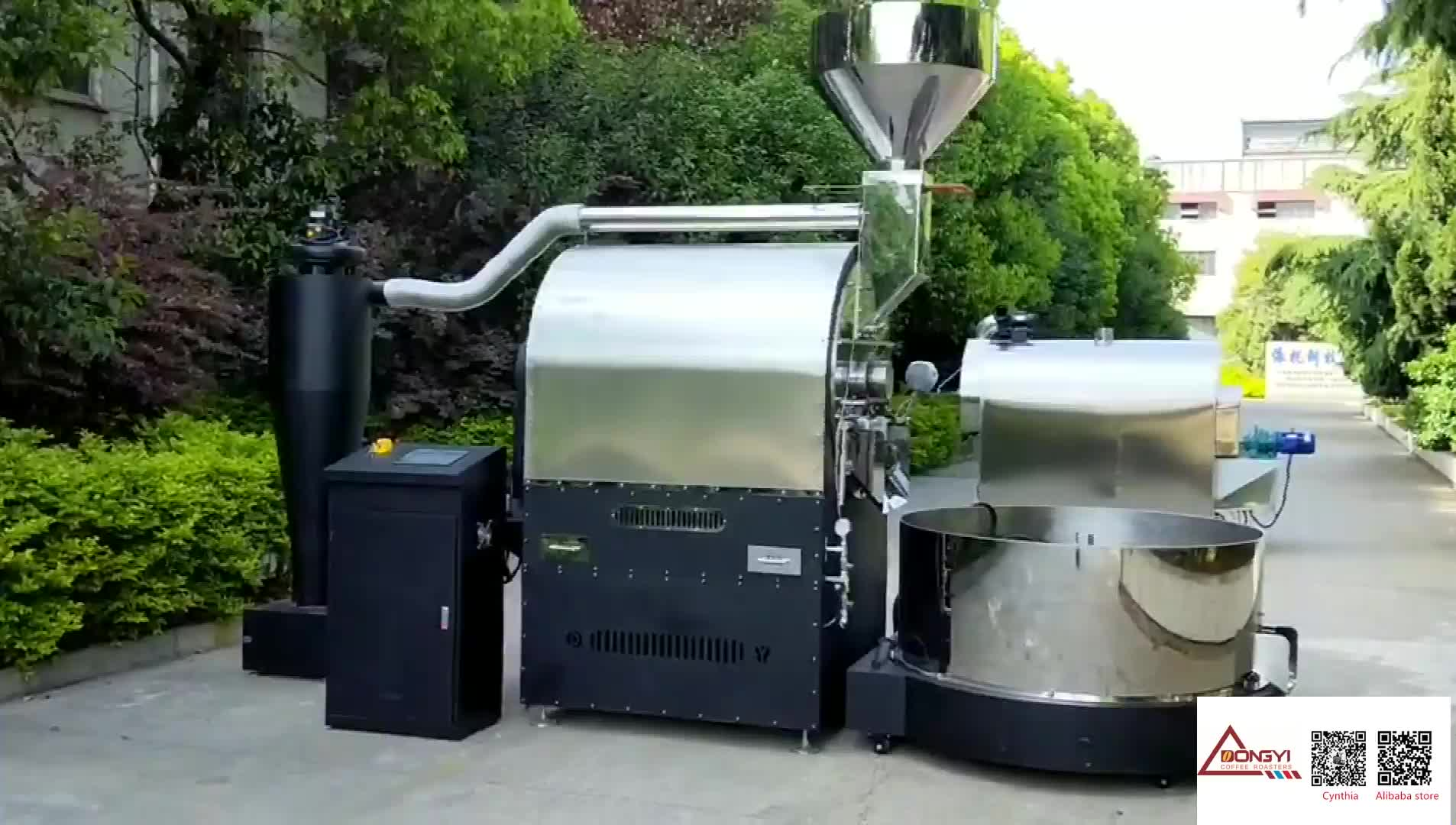 Dongyi Turkey style industrial coffee roaster 50kg 60kg coffee roasting machine with lower FOB price by updated PLC