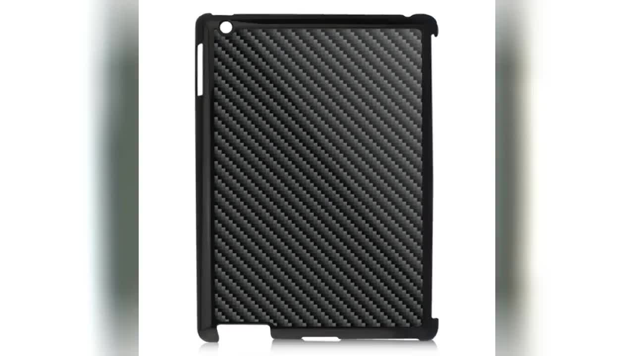 Custom carbon fiber protective case for iPad 2/3/4
