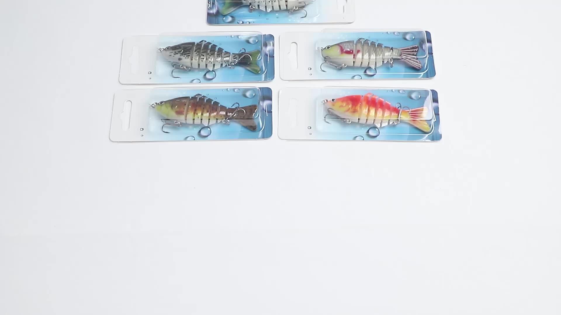 Pêche à la traîne Leurres De Poisson Nage Minnow Wobbler multi-sections Dur Bait100mm/15g Artificielle Crankbait Jig Pesca leurres de pêche