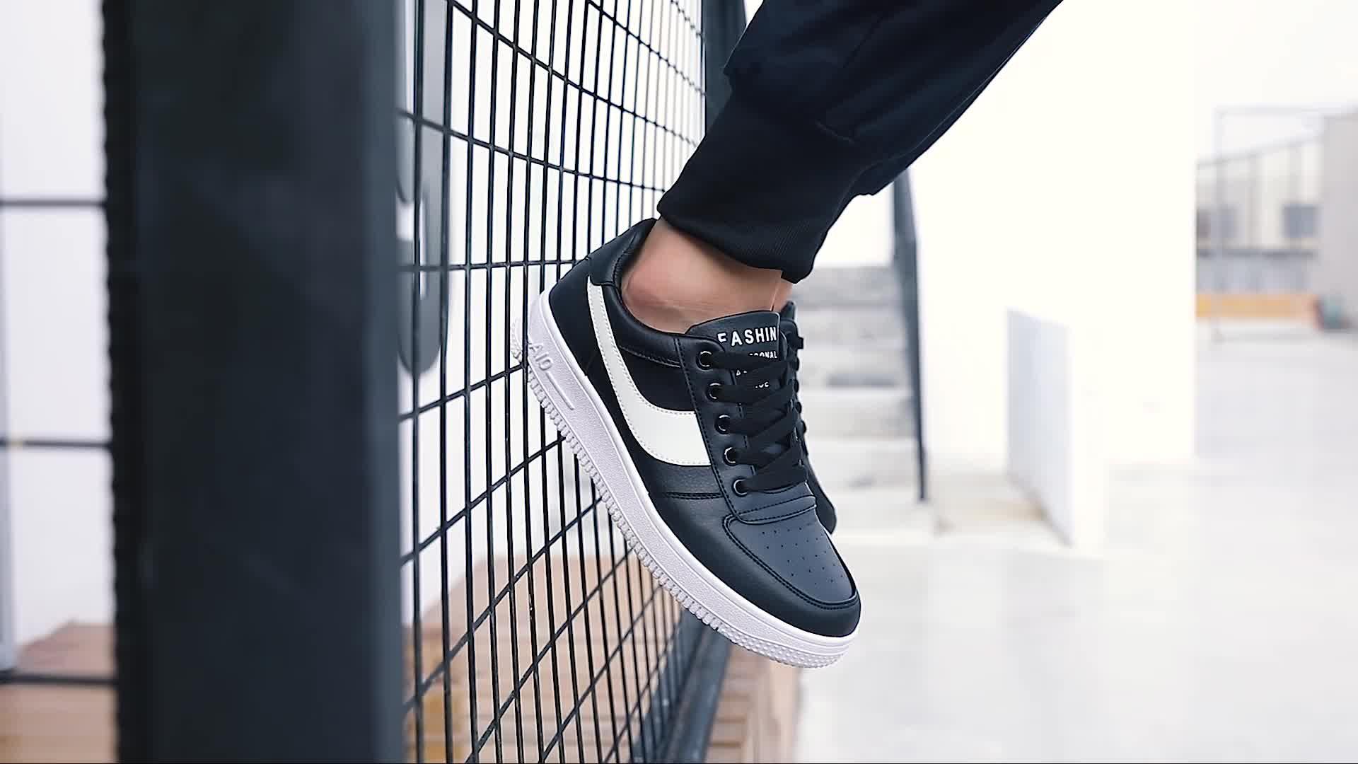 Baixo preço da escolha de materiais de design de moda dos homens sapatos de skate personalizado