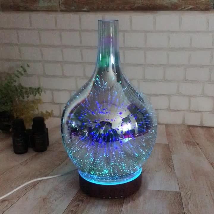 Bizoe 3d стекло ультразвуковой ароматерапия аромат воздуха диффузор с таймером
