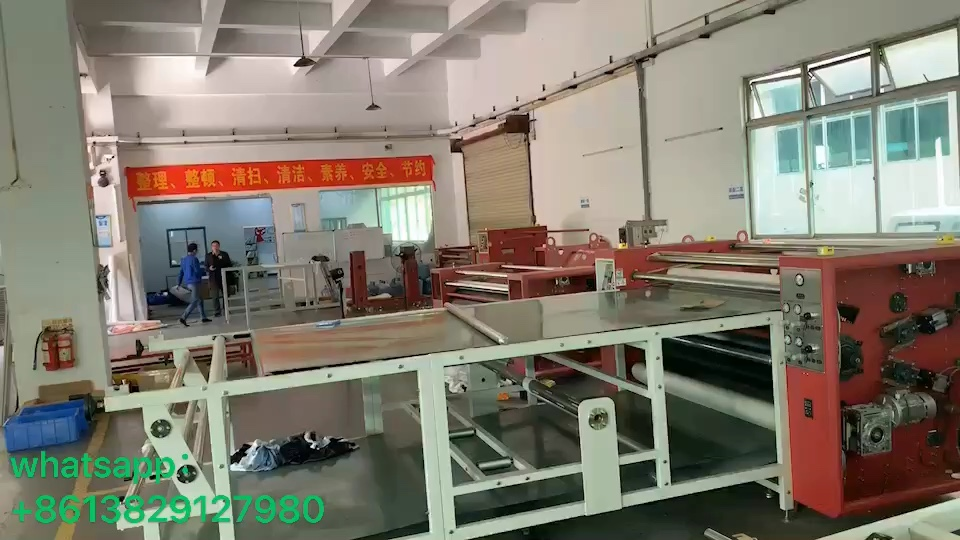 Roll To Roll Oil Heating Sublimation Heat Press Machine