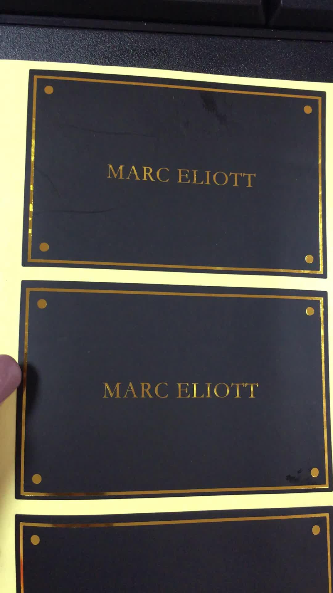 Autocollants adhésifs découpés personnalisé   Conception privée, Logo de marque imprimé en feuille d'or brillante