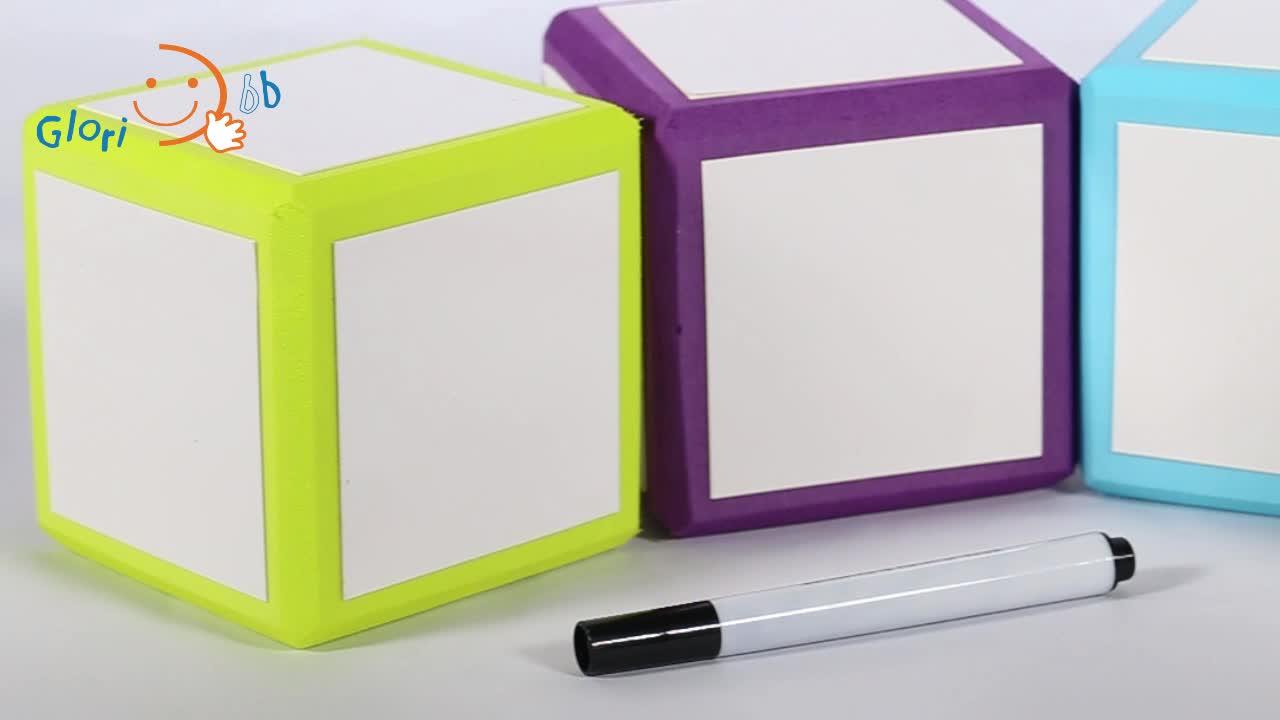 교육 완구 어린이 장난감 학습 번호 편지 그림 소프트 EVA 폼 큐브 펜