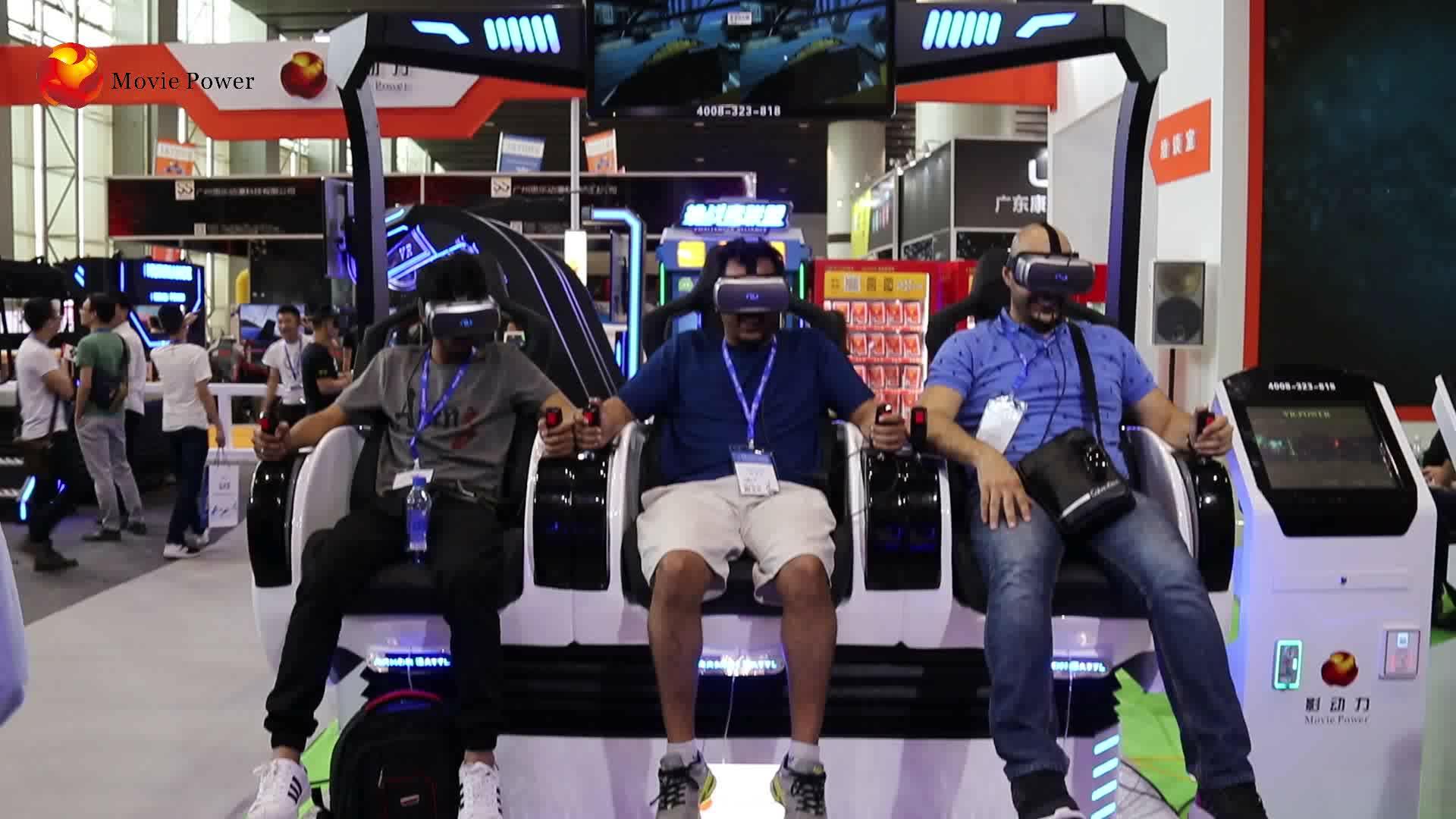 Cómodo asientos de carreras VR juego silla 9D cine simulador mostrar videos