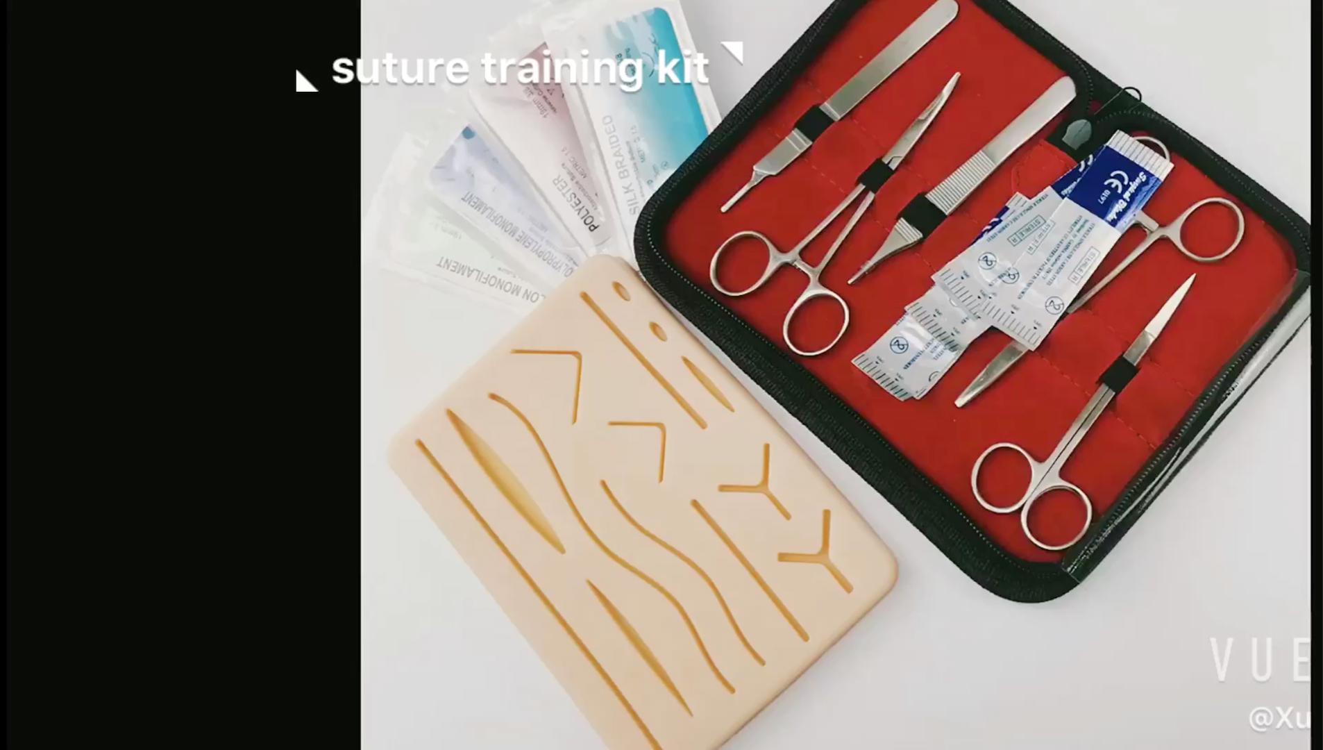 सर्जिकल सिवनी मेडिकल छात्रों के लिए अभ्यास किट सिवनी सिवनी के साथ प्रशिक्षण अभ्यास त्वचा पैड