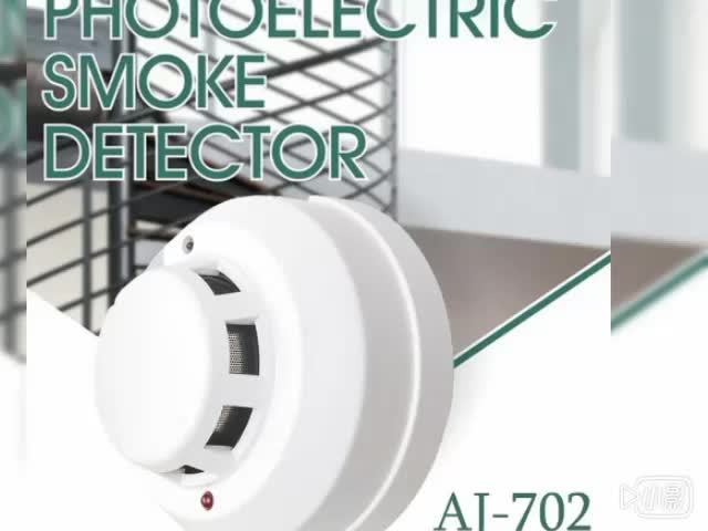 personal house easy fixed connected 2 wire 4 wire electric smoke detectors