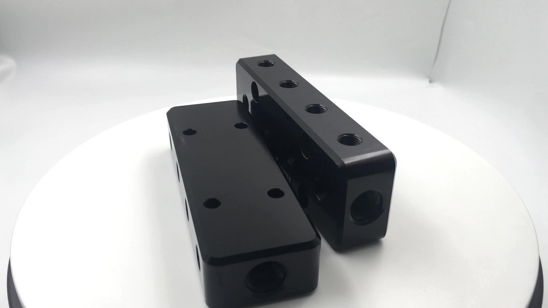 factory good price aluminum block drilling cnc milling parts