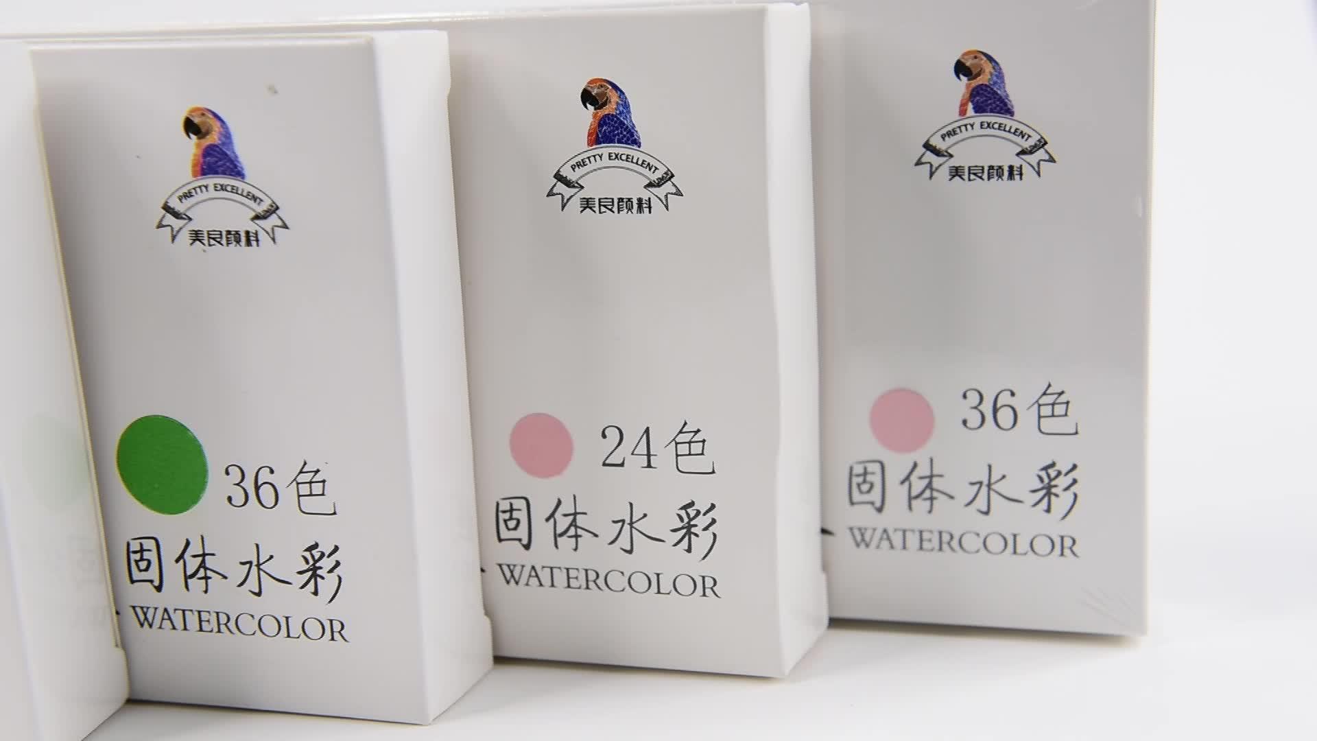 O.Win 24 Màu Sắc Đầy Đủ Pan Rắn Màu Nước Bánh Aquarelle Sơn Từ Trung Quốc Cho Sinh Viên Và Người Nuôi Cá