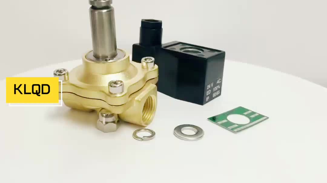 KLQD Brass 2W500-50 Long Time Working DC24V~AC220V 2 Inch Water Solenoid Valve With Energy Saving Coil