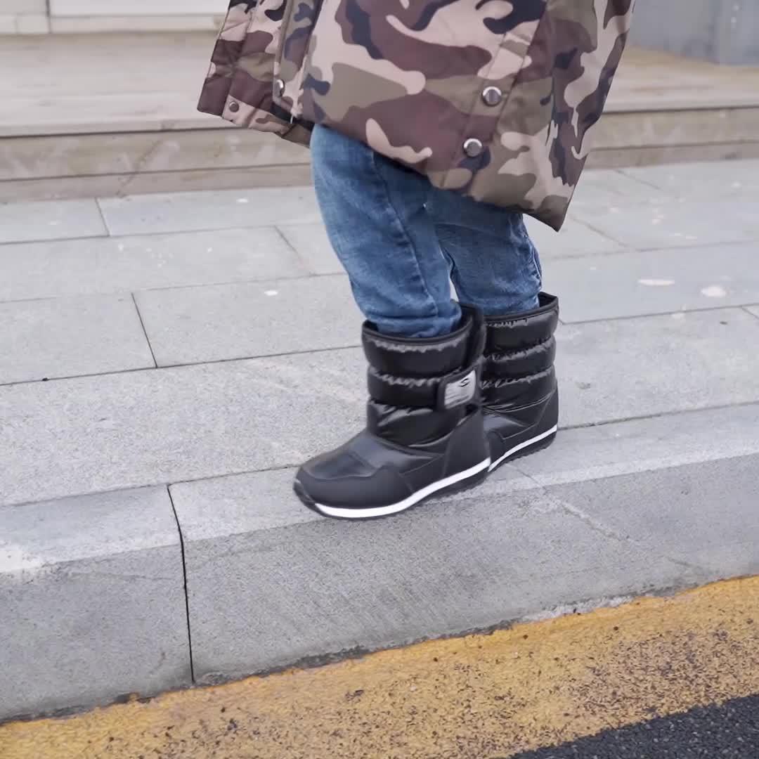 เด็กหิมะกันน้ำ Boot รองเท้าเด็ก Warm Winter Boots