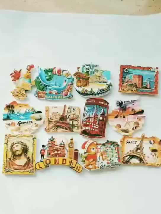 Custom promotie geschenk 3d hars Malediven souvenir Malediven magneet