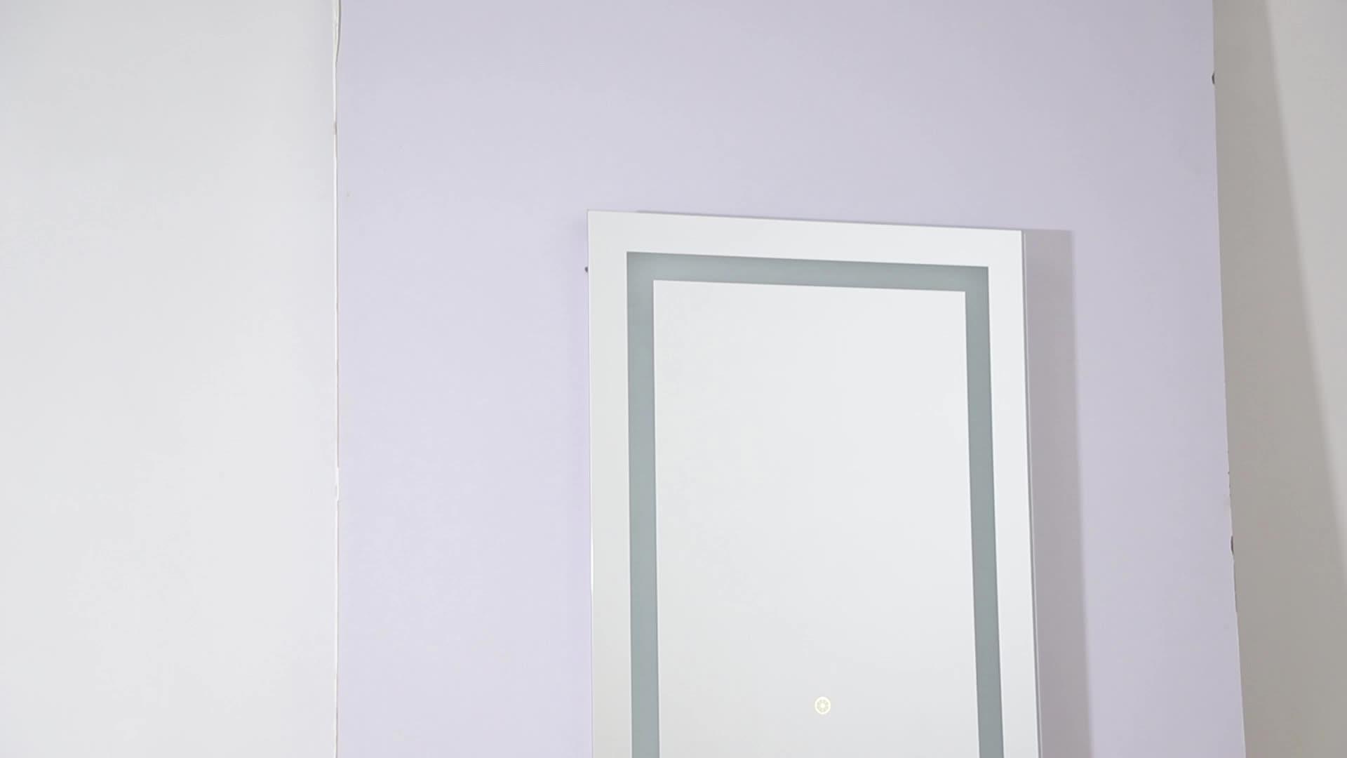С подсветкой сенсор переключатель ванная комната зеркало прилагается настенное зеркало светодио дный светодиодной подсветкой