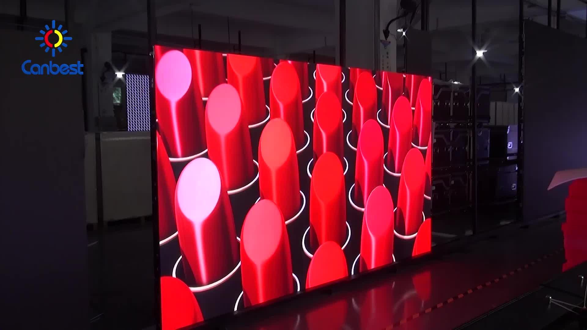 Gereja Tahap Latar Belakang Besar LED Display Layar Panel Dinding Harga Melengkung P3 P4 Tahap Layar LED Indoor untuk Konser
