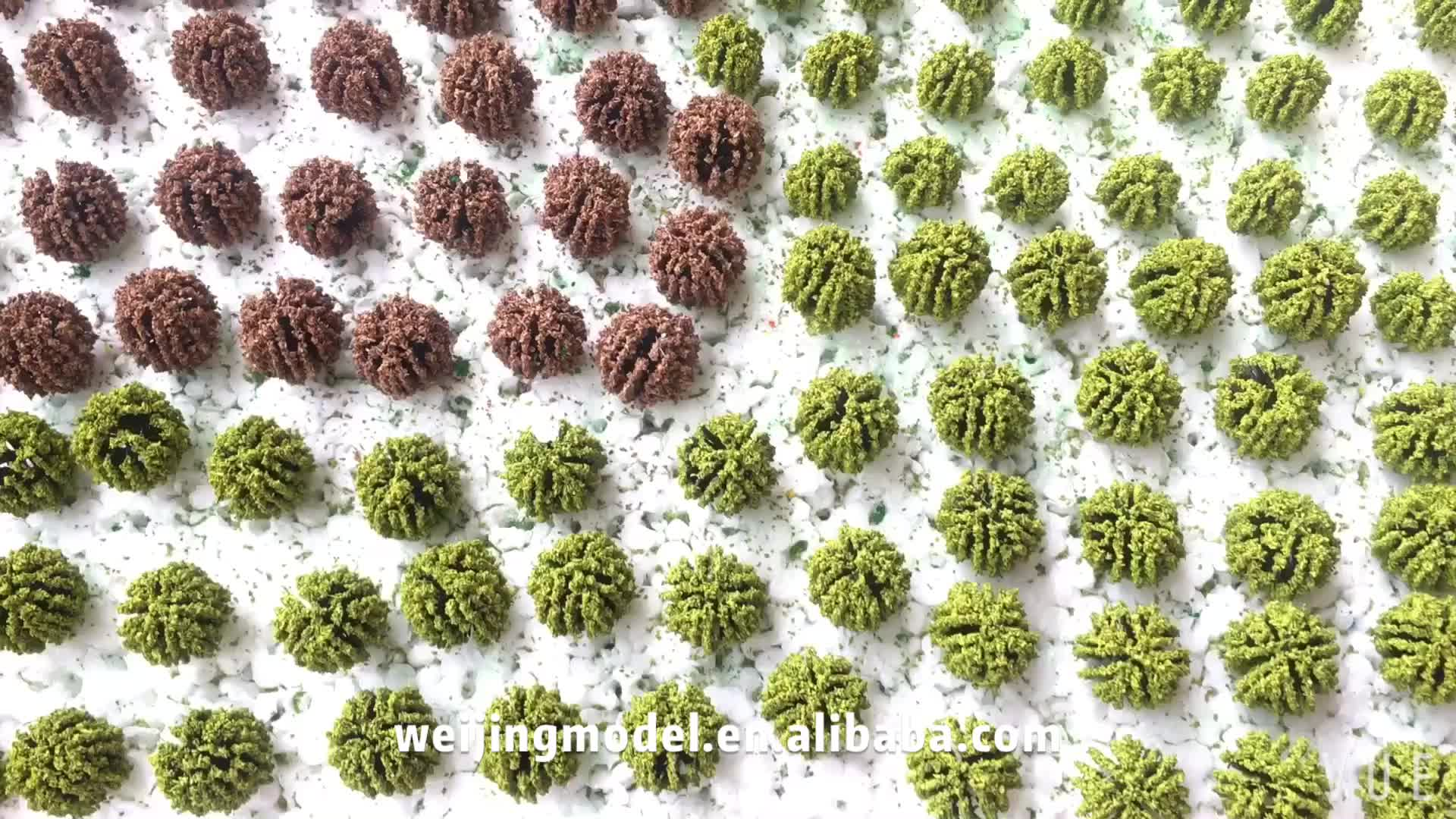 28pcs/lot diy architecture model new tree in ho train layout grass leaves for building kits toy