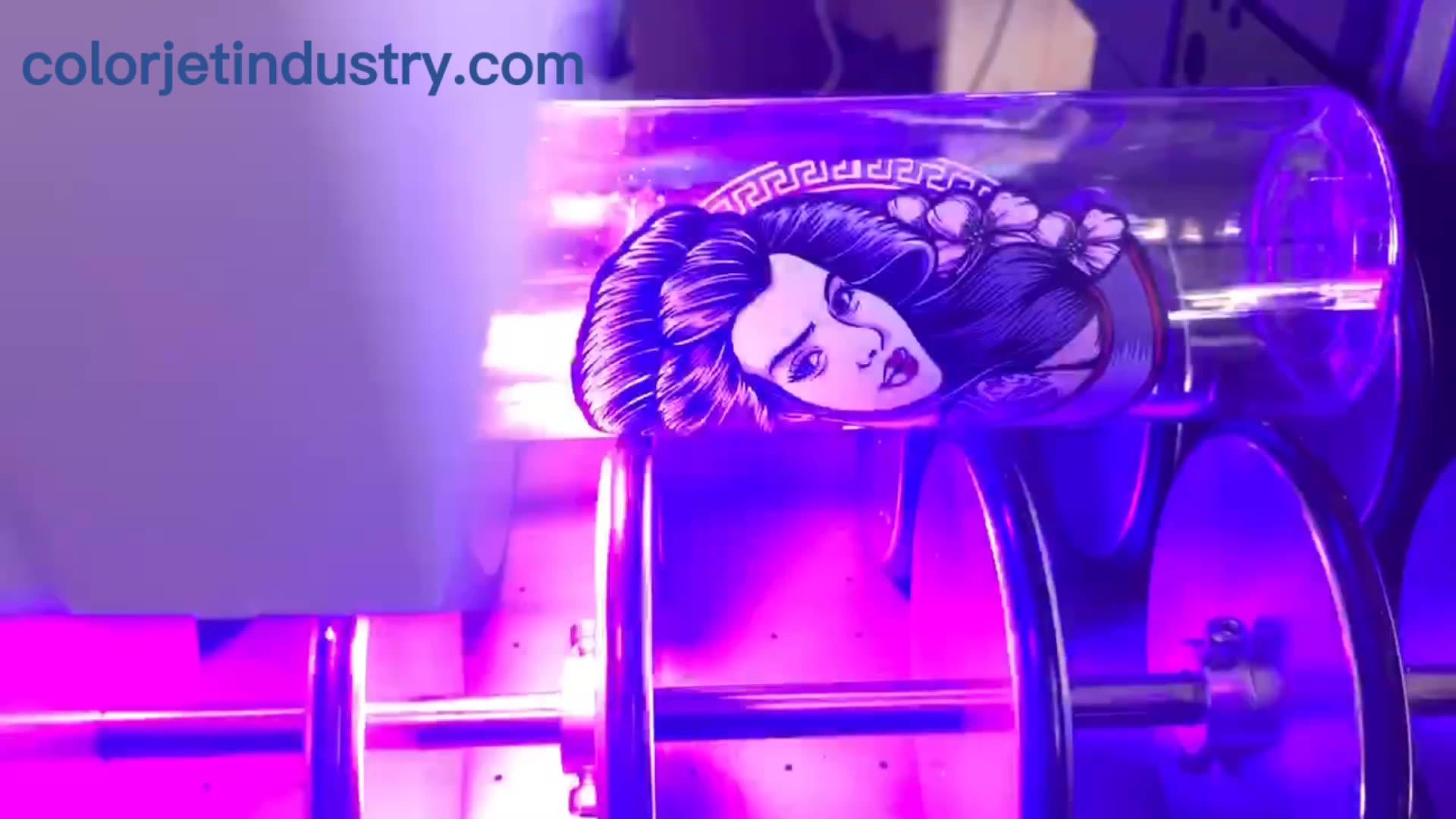CJ-impresora de barniz UV parcial, automática, de PVC