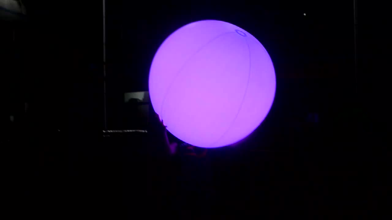 Remote control Event concert Beach LED inflatable PVC ball