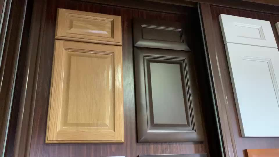 Thermofoil Kitchen Cabinet Door High Gloss Vinyl Wrapped