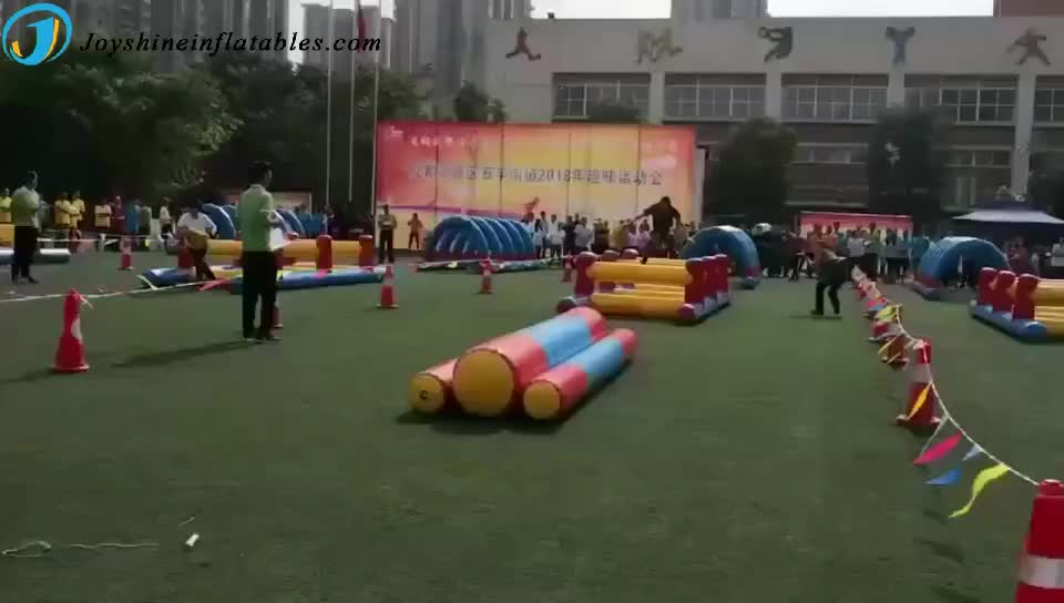 Interactive Inflatable Team Building Games Outdoor Sports Adult Kids Activities Inflatable Obstacle Course Equipment For Sale