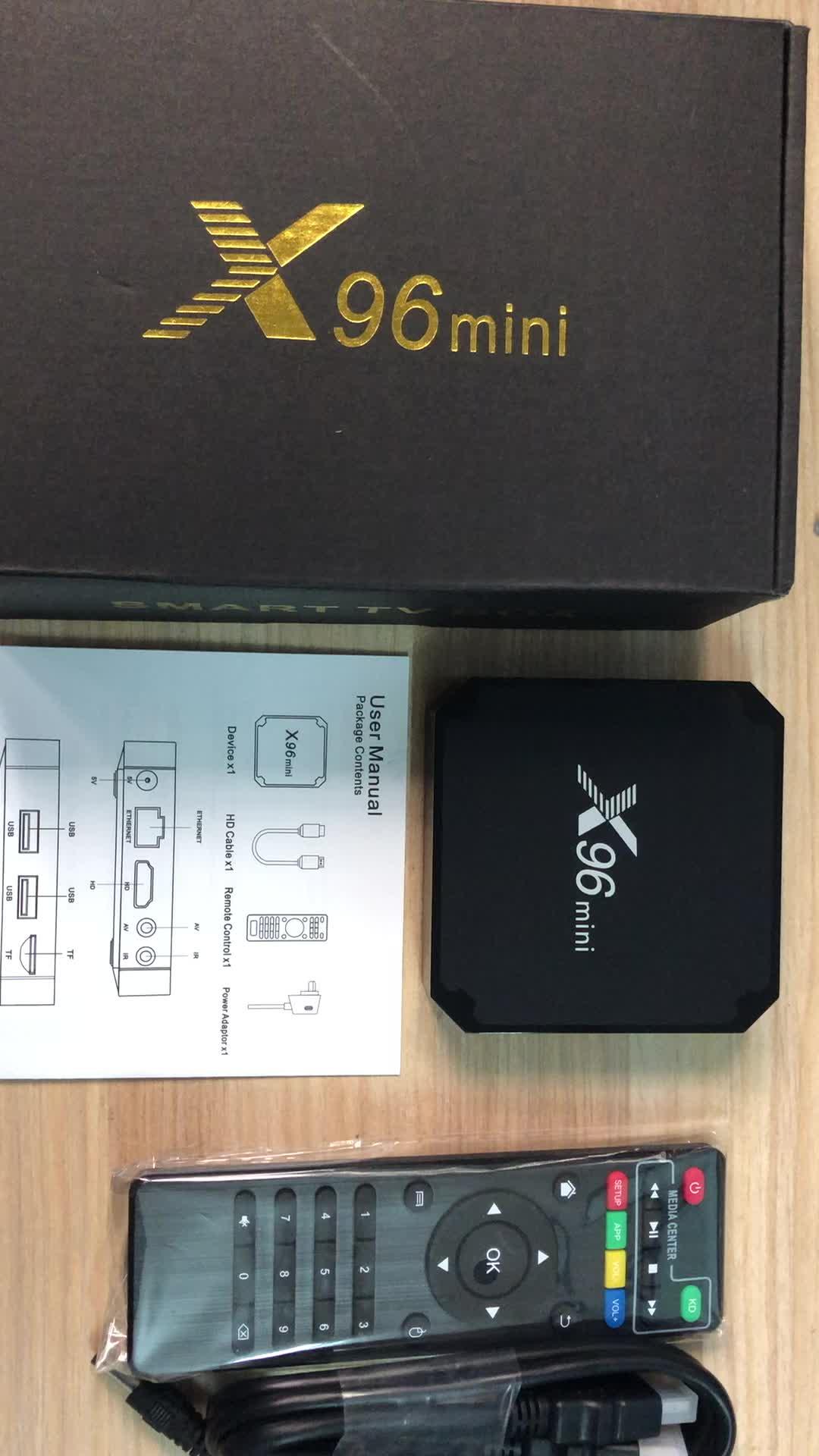 ТВ-приставка X96 Mini S905W, Android 7,1, 4 ядра, Wi-Fi, 4K