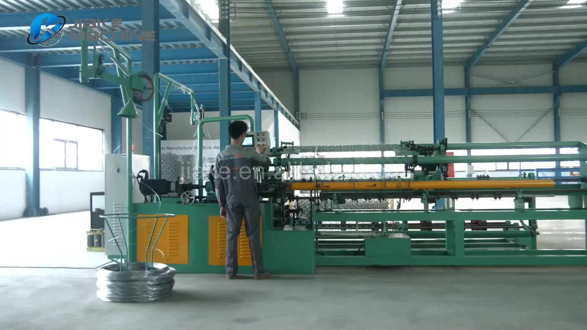 Alta velocidade automático cheio de diamante galvanizado malha elo da cadeia vedação preço da máquina