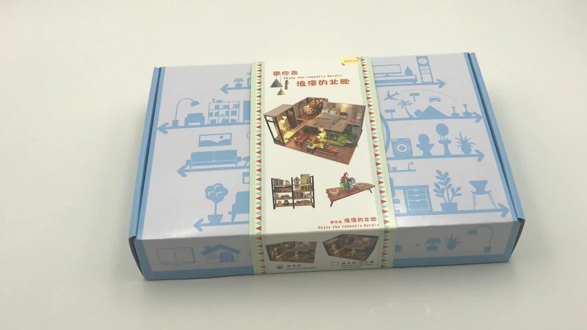 Großhandel spielzeug 1:24 skala miniature holz handwerk puppe häuser